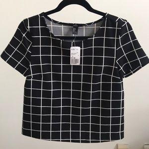 Forever 21 grid T-shirt